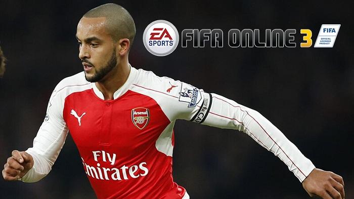 Theo Walcott tiền đạo có chỉ số tốc độ cao trong FIFA Online 3